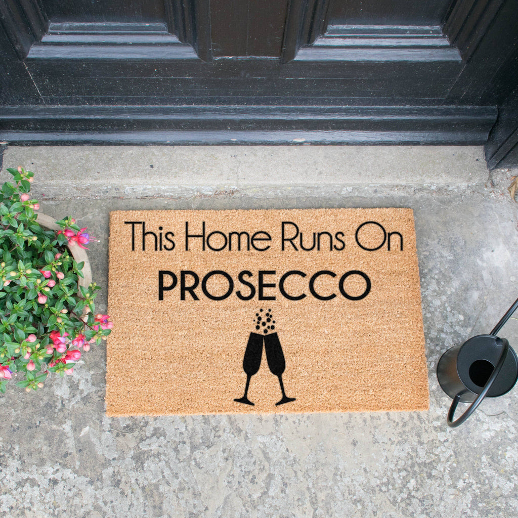 This Home Runs On Prosecco Doormat RUGSANDROOMS
