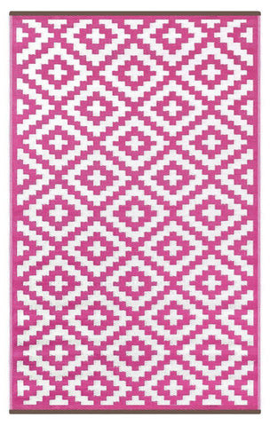 Nirvana Pink & Cream Indoor-Outdoor Reversible Rug cvsonia
