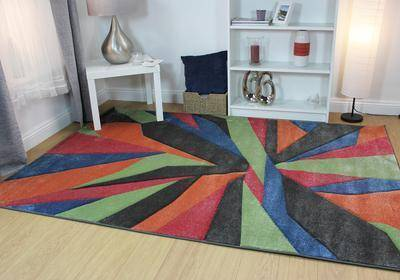Shatter Multi-Coloured Area Rug RUGSANDROOMS