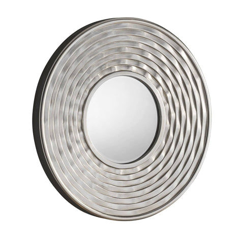 Image of Circles Silver Accent Mirror gagandeepstore