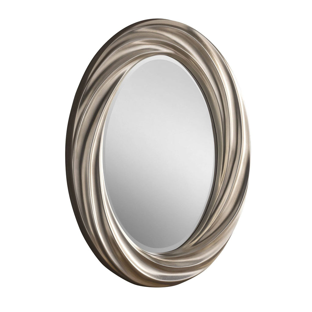Oval Silver Wall Accent Mirror RUGSANDROOMS