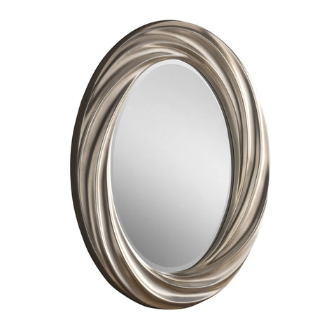 Image of Oval Silver Wall Accent Mirror RUGSANDROOMS