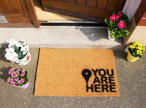 You are Here Doormat RUGSANDROOMS