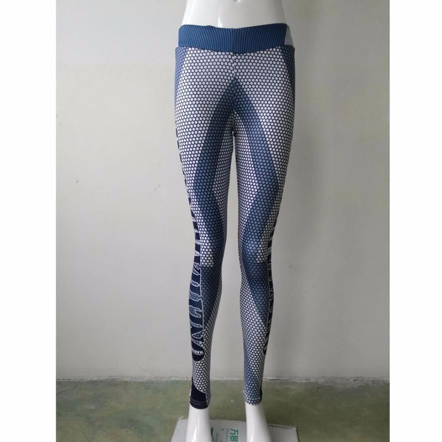 Sexy Women Stretch Skinny Print Pants Slim Leggings Sport Pants Elastic Waist Yoga Pants #E5