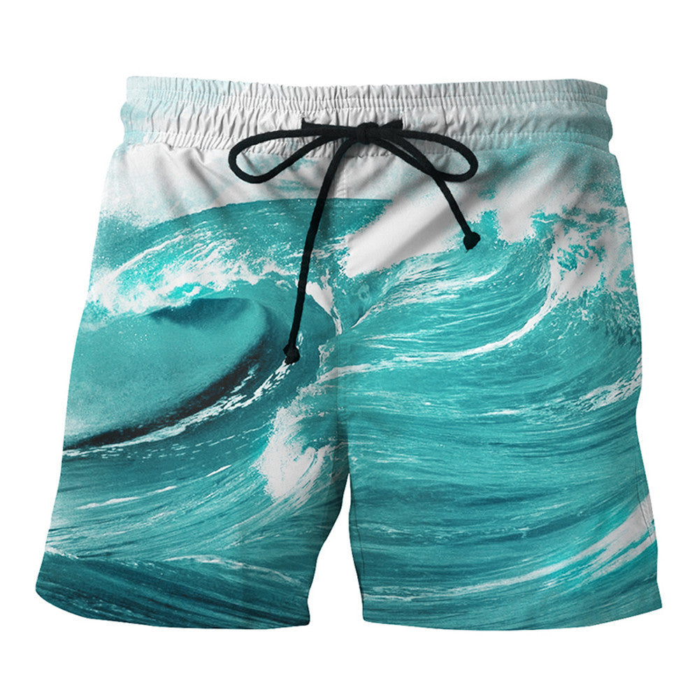 Mens Casual  Printed  Beach Work Casual Men Short Trouser Shorts Pants