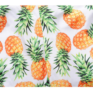 Mens Casual Pineapple Printed  Beach Work Casual Men Short Trouser Shorts Pants