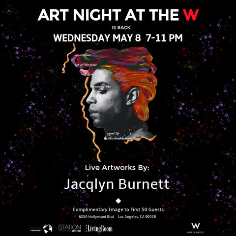 Art Night at the W Stating Wednesday May 8 Live Painting Exhibition