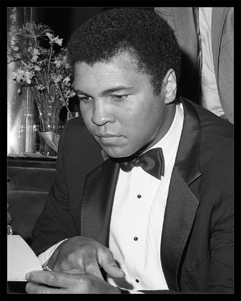 Whitaker Historic Photography: A Serious Muhammad Ali Reading-Fine Art Print-Global Images Gallery-16x20-Global Images