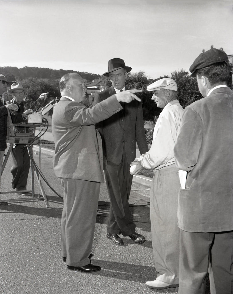 "Frank Worth Collection ""Alfred Hitchcock And James Stewart On Set Of Vertigo"" w/coa - Global Images Gallery"
