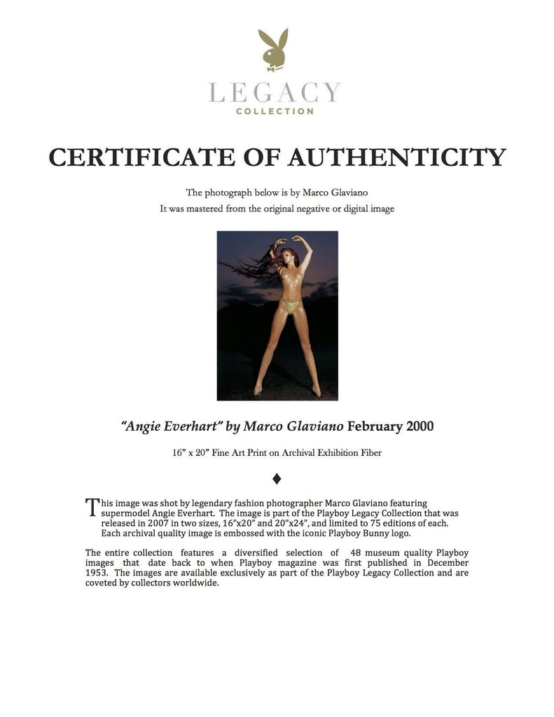 """Angie Everhart"" by Marco Glaviano-Global Images"
