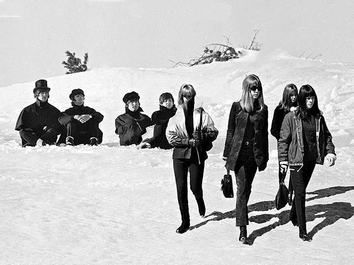 """Beatles and Ladies in Snow II"" by Roger Fritz - Global Images Gallery"