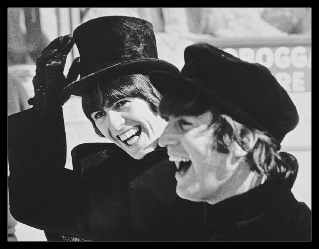 """Beatles in Hats Laughing"" by Roger Fritz - Global Images Gallery"