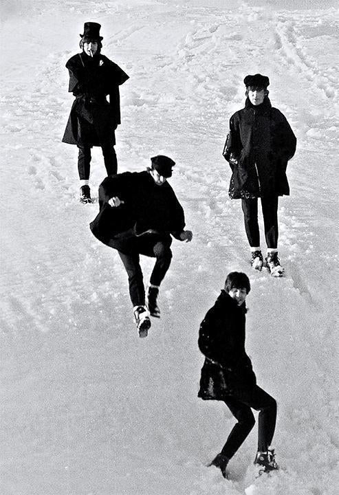 """Beatles Jumping in Snow"" by Roger Fritz - Global Images Gallery"