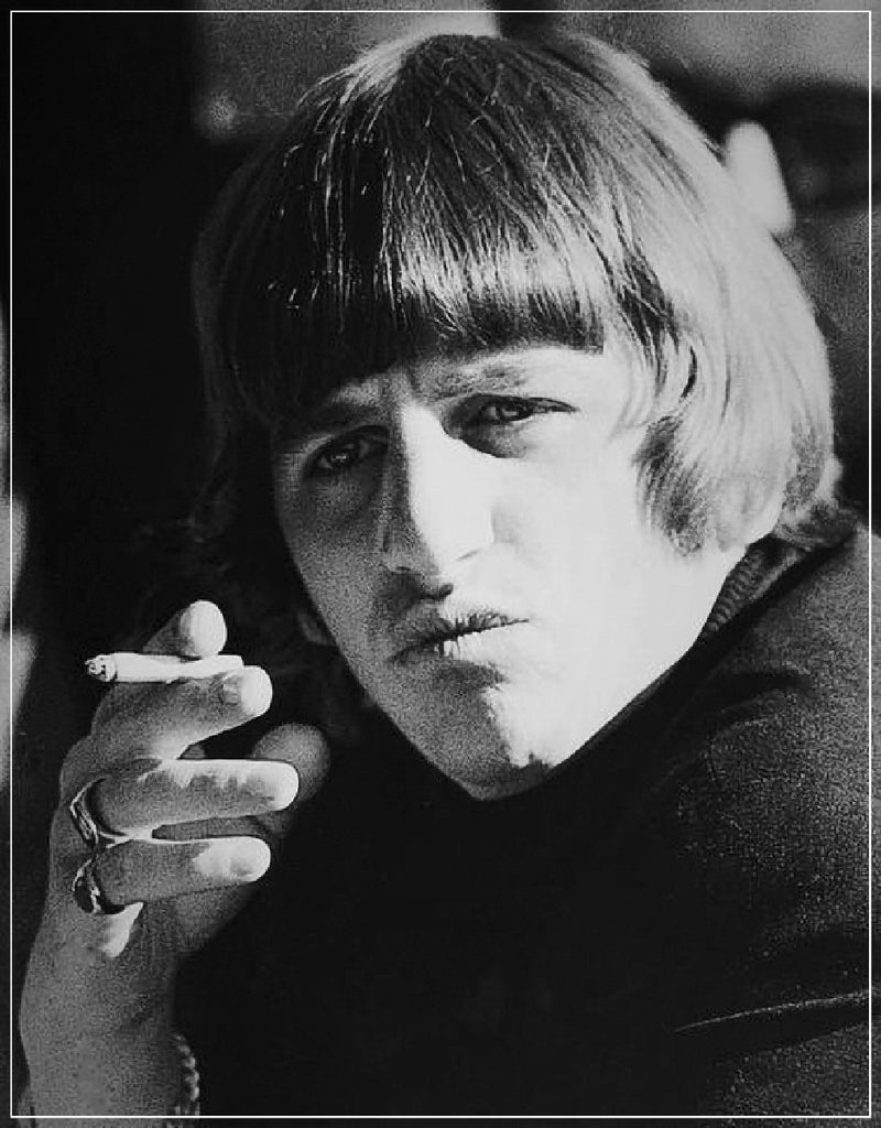 """Beatles Ringo Smoking""-Roger Fritz Fine Art Print-Global Images Gallery-Global Images"