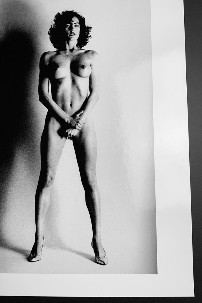 """Big Nude III Henrietta, Paris 1980"" 20x24 Vintage Silver Gelatin Print by Helmut Newton Photography-Global Images Gallery-Global Images"