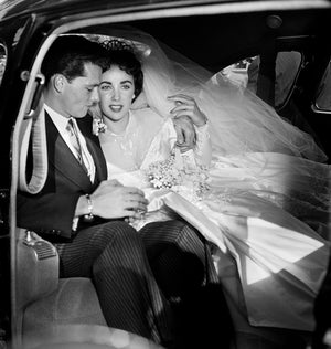 "Frank Worth Collection ""Elizabeth Taylor In Car First Wedding"" w/coa - Global Images Gallery"