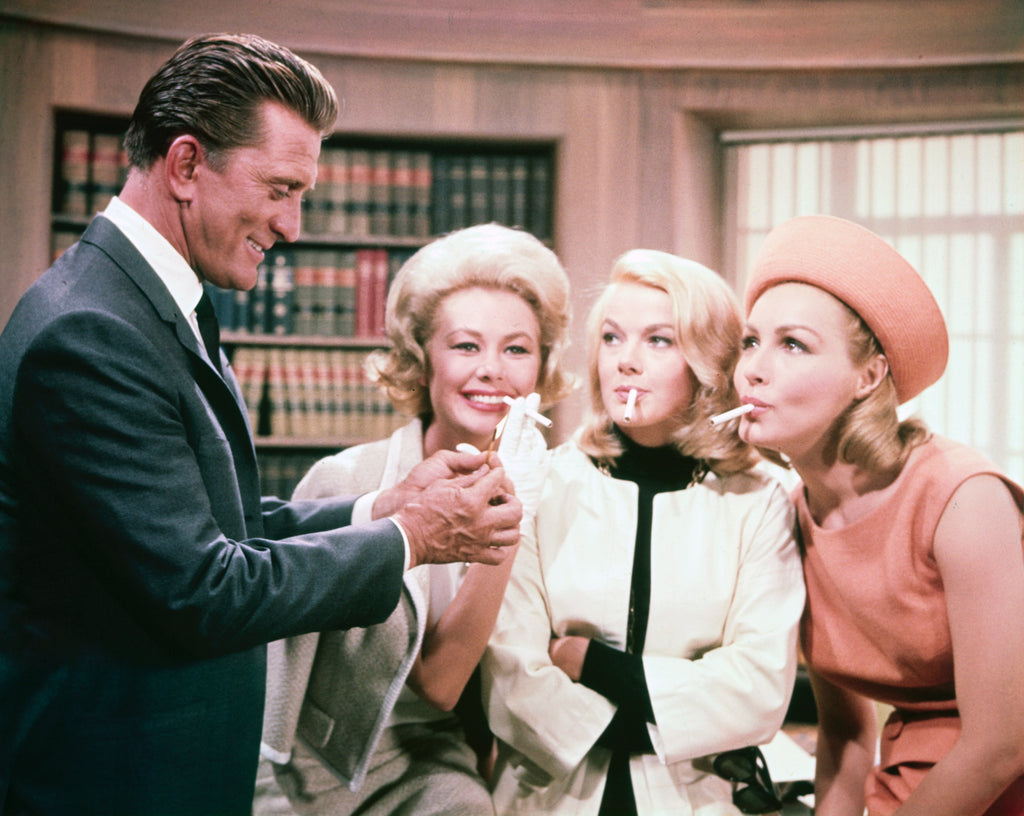 "Frank Worth Collection ""Kirk Douglas Lighting Cigarettes, Color"" w/coa - Global Images Gallery"