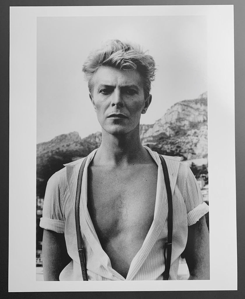 """David Bowie, Monte Carlo 1983"" 16x20 Vintage Silver Gelatin Print by Helmut Newton Photography-Global Images Gallery-Global Images"