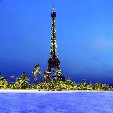 "Daniel Furon Collection ""Eiffel Tower On Island"" w/coa - Global Images Gallery"
