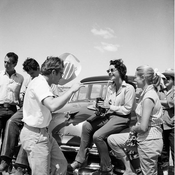 "Frank Worth Collection ""Elizabeth Taylor And James Dean On Car"" w/coa - Global Images Gallery"