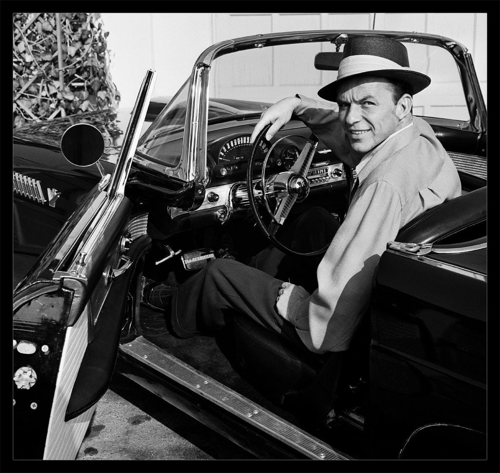 "Frank Worth Collection ""Frank Sinatra Sitting In T-BIRD""  Large Format - Global Images Gallery"