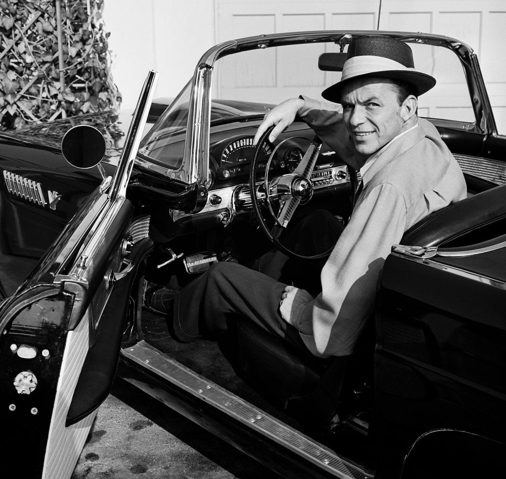 "Frank Worth Collection ""Frank Sinatra Sitting In T-BIRD""  w/coa - Global Images Gallery"