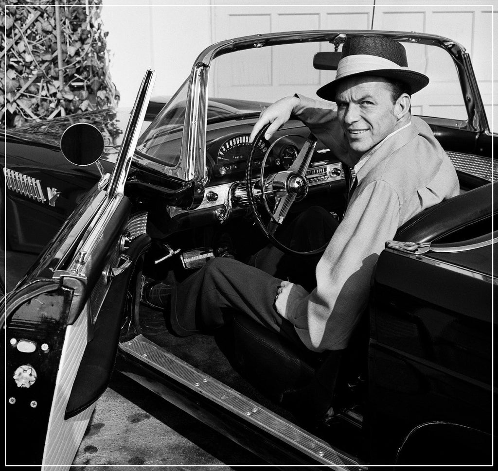 Frank Sinatra Sitting In T-BIRD by Frank Worth Photography