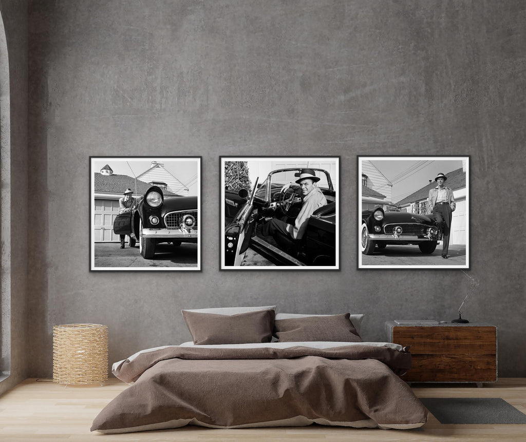 Frank Sinatra Triptych Mural 40x50 by Frank Worth-Fine Art Print-Global Images-Global Images