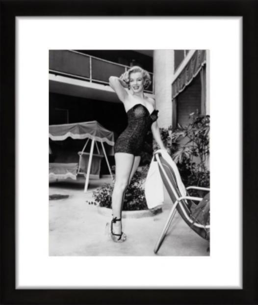 "Frank Worth Collection ""Marilyn Monroe Standing By Pool"" FRAMED - Global Images Gallery"