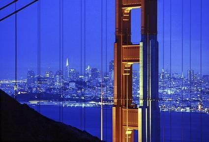 "Daniel Furon Collection ""Golden Gate Bridge, Blue/Red"" w/coa - Global Images Gallery"