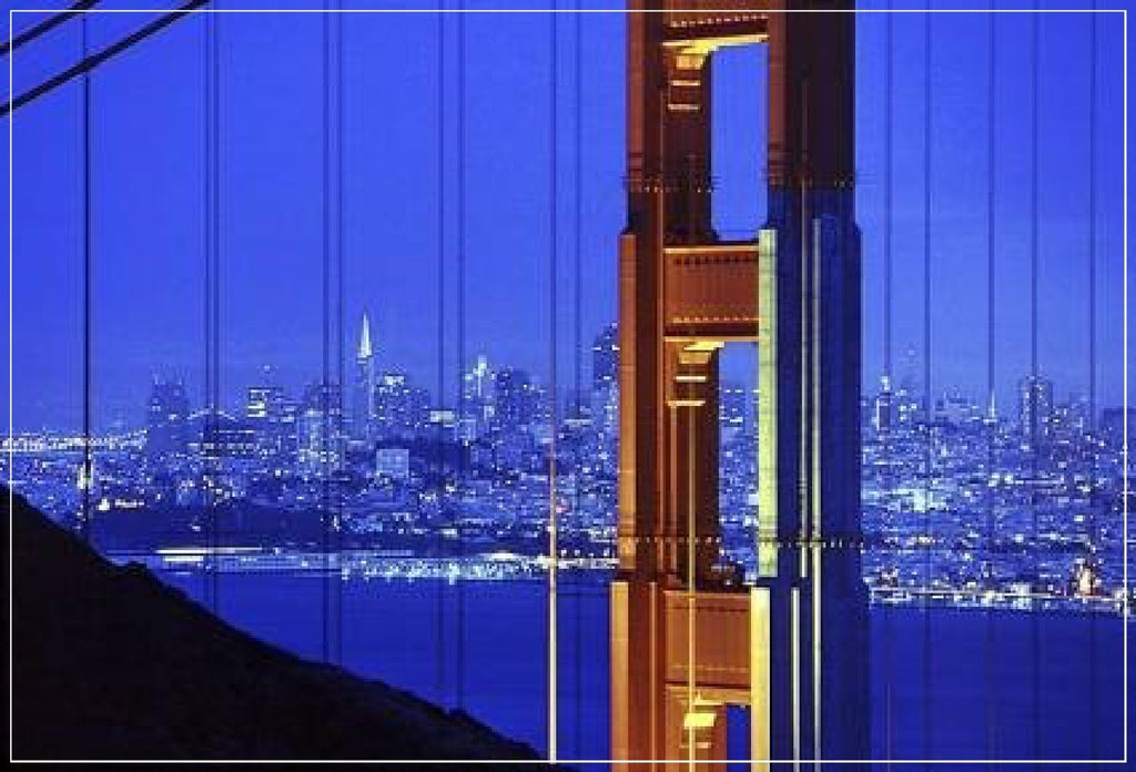 """Golden Gate Bridge, Blue/Red"" by Daniel Furon"