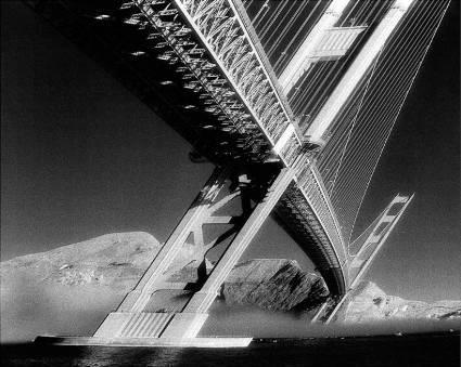 "Daniel Furon Collection ""Golden Gate Bridge, Grey"" w/coa - Global Images Gallery"