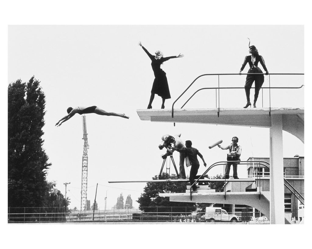 """High Dive Monaco"" 16x20 Vintage Silver Gelatin Print by Helmut Newton Photography-Global Images Gallery-Global Images"