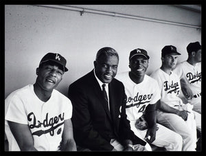 """Jackie Robinson and the '69 Los Angeles Dodgers"" by Frank Worth Under $50 - Global Images Gallery"