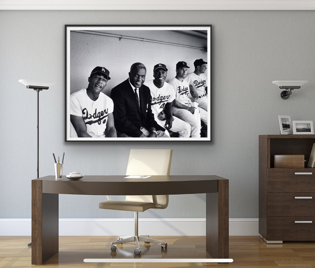"Frank Worth Collection ""Jackie Robinson, Dodgers Game"" Large Format - Global Images Gallery"