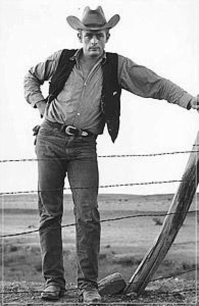 James Dean, Cowboy by Frank Worth Photography on set of GIANT in 1955