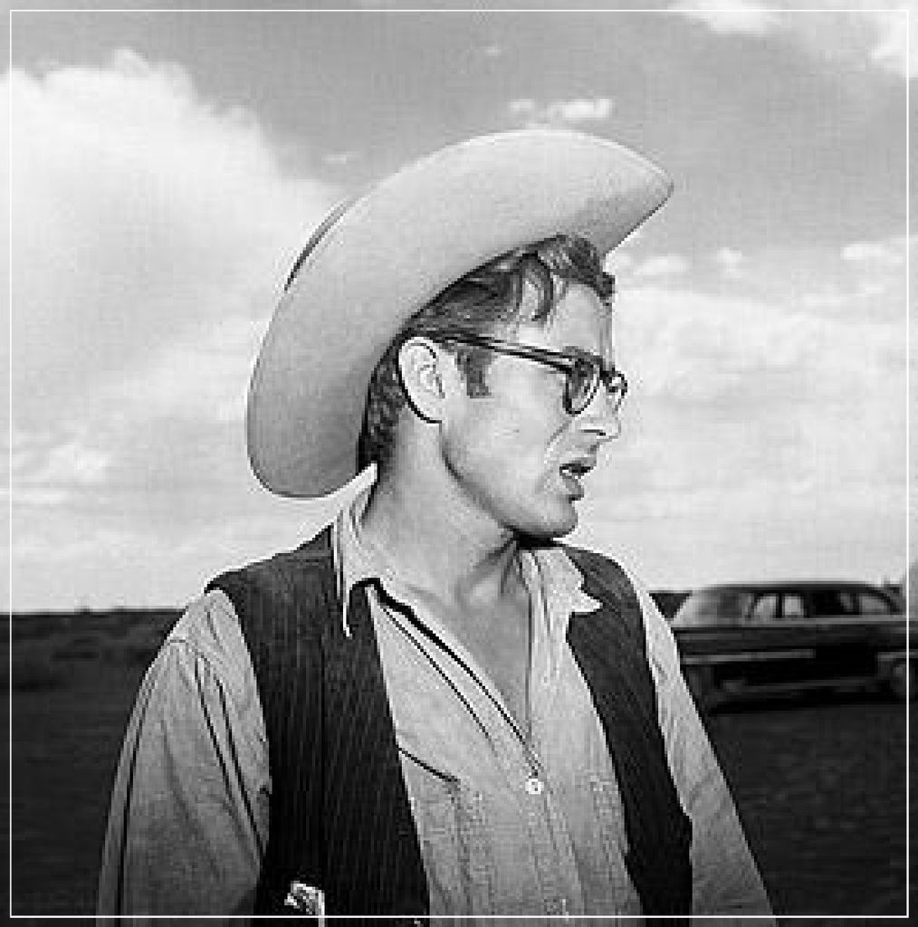 James Dean In Hat And Glasses by Frank Worth Photography taken on the set of GIANT