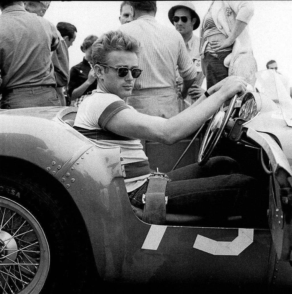 "Frank Worth Collection ""James Dean in Race Car"" w/coa - Global Images Gallery"