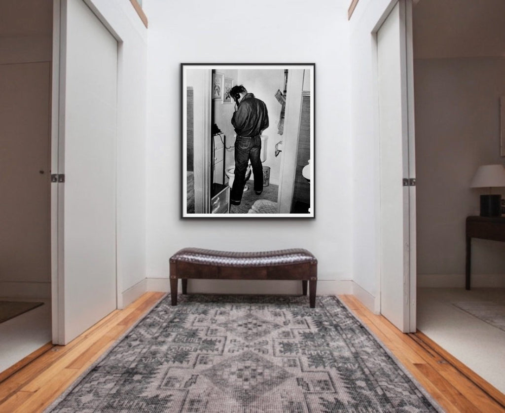"Frank Worth Collection ""James Dean In Restroom"" Large Format - Global Images Gallery"