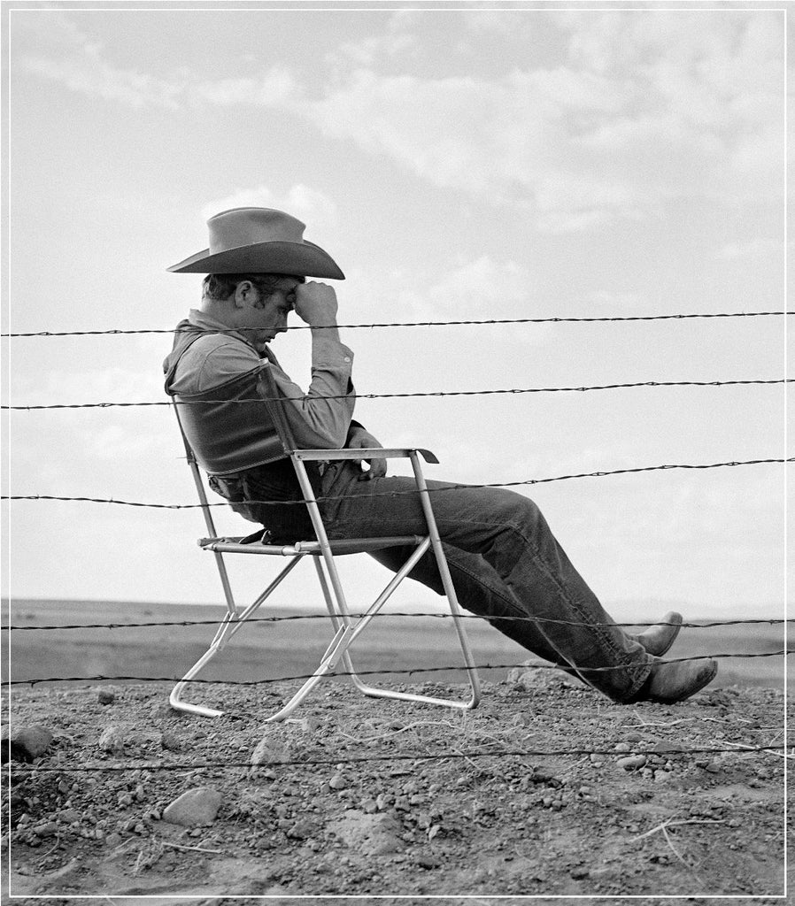 James Dean Resting 1955 by Frank Worth Photography on the set of GIANT