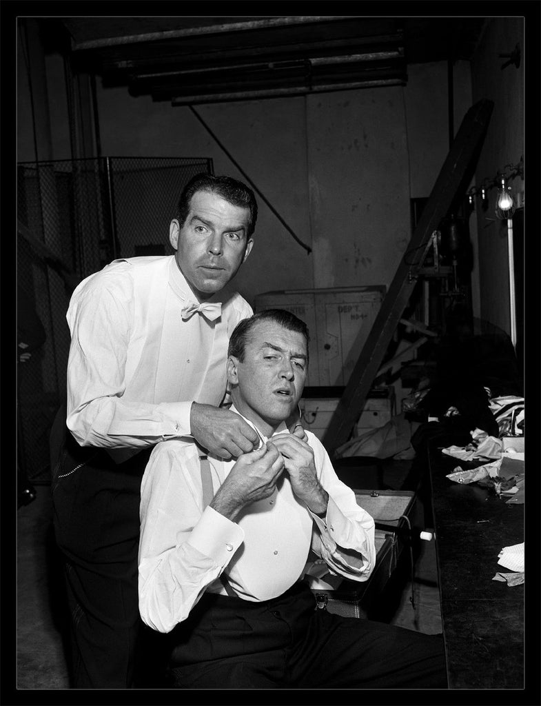 """Jimmy Stewart And Fred McMurray"" by Frank Worth Under $50-Fine Art Print-Global Images Gallery-12x18-Global Images"