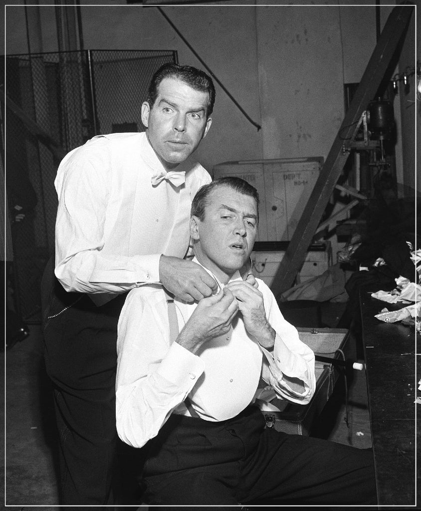 Jimmy Stewart And Fred McMurray by Frank Worth Photography