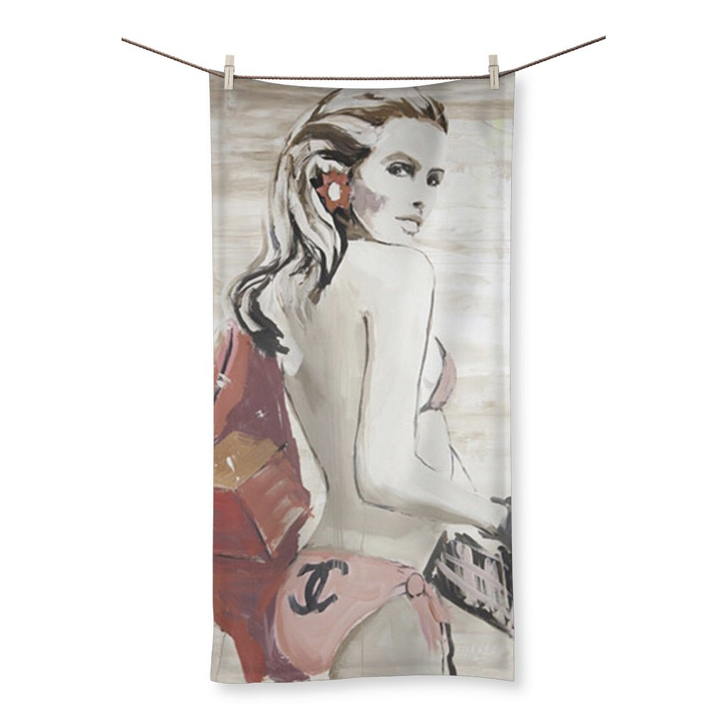 """Lady In Pink"" Oversize Beach Towel-Homeware-kite.ly-31.5""x63.0""-Global Images"