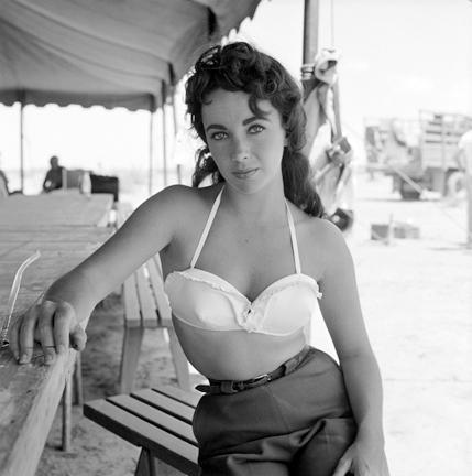 "Frank Worth Collection ""Liz Taylor Classic On Set Of GIANT #3"" w/coa - Global Images Gallery"