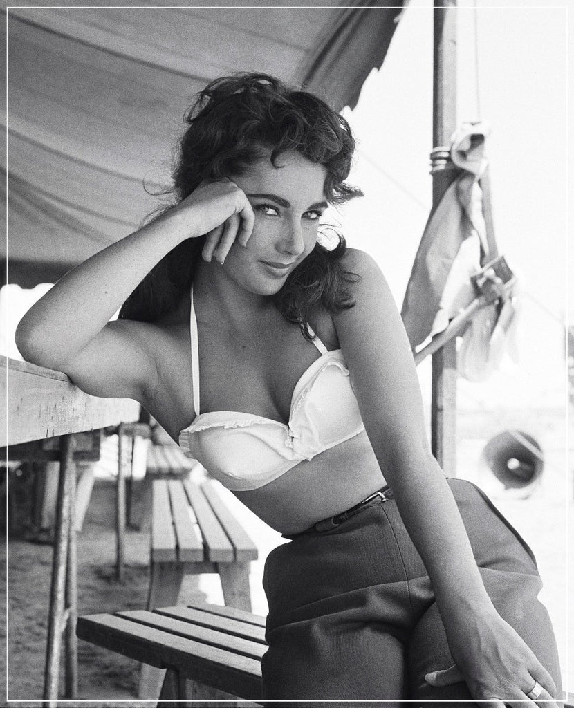 Liz Taylor Classic On Set Of GIANT by Frank Worth Photography taken in 1955