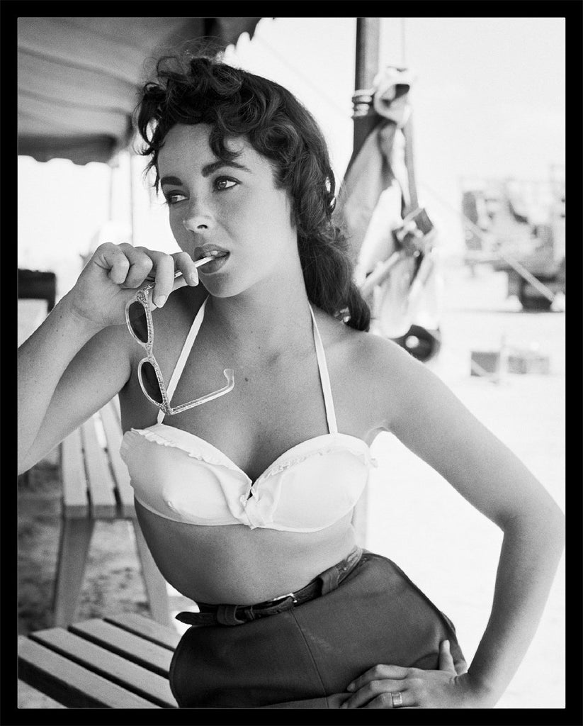 """Liz Taylor Classic with Sunglasses"" by Frank Worth Under $50-Fine Art Print-Global Images Gallery-12x18-Global Images"