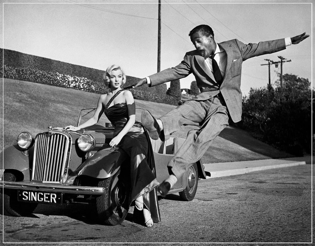 """Marilyn Monroe and Sammy Davis Jr. 1953"" by Frank Worth Photography"