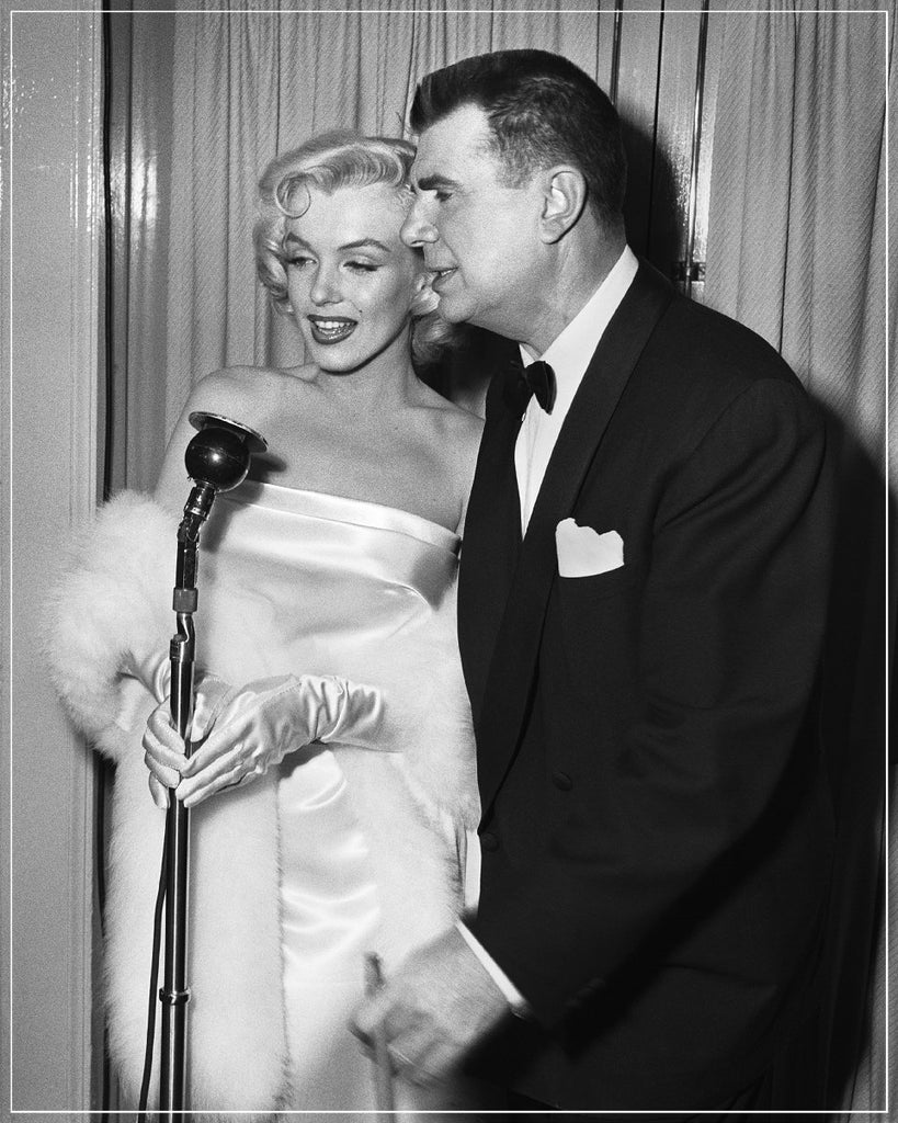 Marilyn Monroe Being Interviewed taken by Frank Worth Photography