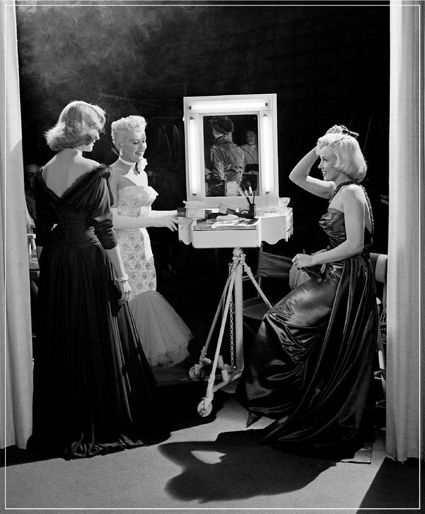"""Marilyn Monroe, Lauren Bacall And Betty Grable 1953"" by Frank Worth Photography on the set of How to Marry a Millionaire, featuring Betty Grable"