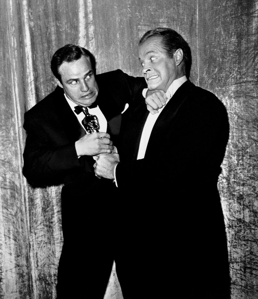 "Frank Worth Collection ""Marlon Brando And Bob Hope With Oscar "" Marlon Brando & Bob Hope w/coa - Global Images Gallery"